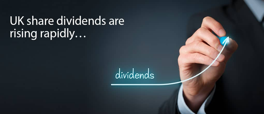 UK share dividends rise
