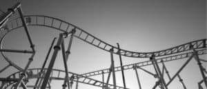Stock market prices mimicked a rollercoaster ride in August